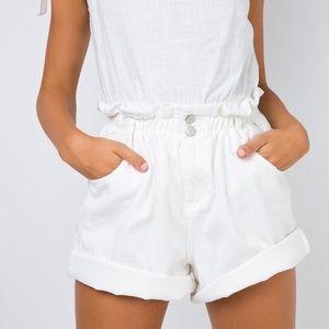 shipwreck paper bag denim shorts